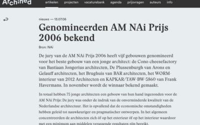Nomination AM NAI prize 2006